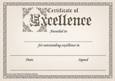 30 Certificate of Excellence awards for school teachers, A5 silk finish card