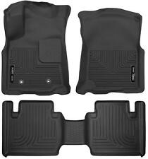 Husky Liners Front & 2nd Row Floor Liners for 16-17 Toyota Tacoma Access Cab