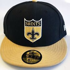 New!  NFL New Orleans Saints Embroidered Fitted Cap Size  6 7/8