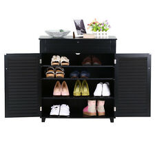 Shoe Rack Storage Organizer Cabinet 3 Shelf 1 Drawers 2 Doors Entryway Stand US