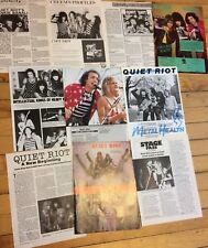 Quiet Riot, Lot of Ten Full Page Vintage Clippings