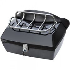 DMY-Black Motorcycle Trunk Tail Box Luggage Case top rack w/o spoiler For Suzuki