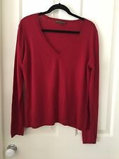Rodney Clarke Red V-neck Sweater Size XL
