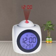 Digital LCD Alarm Clock Multi-function Voice Talking Wall Ceiling Projection