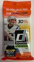 🏈  2018 Panini Donruss NFL Football 30 Cards Factory Sealed Retail Value Pack