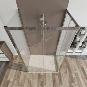 BOX DOCCIA 3 lati scorrevole cabina vetro cristallo 6 mm VARIE MISURE PALMA