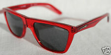 ARNETTE Agent Sunglasses Transparent Red/Grey NEW AN4119-08 Wayfarer/Retro Style