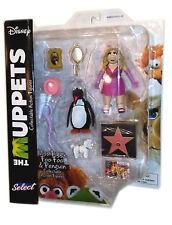 THE MUPPETS Miss Piggy Foo-Foo & Penguin Action Figures Diamond SELECT