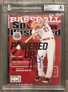 Mike Trout Signed Autographed Magazine Beckett Slabbed Bas Psa Angels