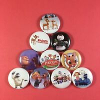"Rudolph the Red Nosed Reindeer 1"" Button Pin Lot Christmas Classic Santa"