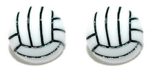 BLACK & WHITE RESIN VOLLEYBALL CUFF LINKS (045a)