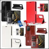 Etui housse coque Crazy Horse Cuir PU Leather Flip Case Cover Xiaomi Poco M3