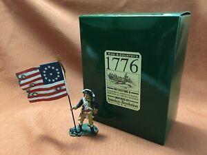 King & Country's 1776 - American Standing Flag Bearer Figure - AR35 - w/Box