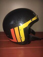 Vintage Black Ski-Doo TNT Snowmobile Helmet Open Face