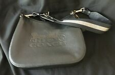 Coach F72702 Jes Hobo Shoulder Bag Black pebble leather Horse and Carriage LOGO