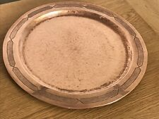 Arts & Crafts Antique Beautiful Large Round Copper Plate