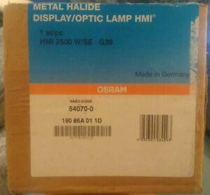 1* OSRAM HMI 2500SE XS Sockel G38 NEU&OVP Rechnung