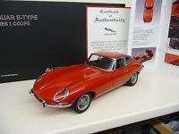 1:18 Autoart JAGUAR E-TYPE Coupe SERIES I 3.8 1961 Carmen Red NEU NEW
