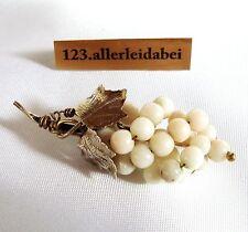 Korallen Brosche Koralle Engelshaut Nadel 800 er Silber old coral brooch  AB 424