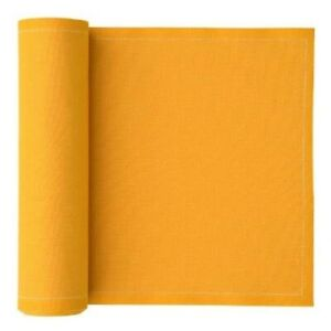 "Cotton Luncheon Napkin 4.5""x4.5"" 50 units per roll Mustard Yellow Ochre NEW"