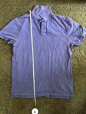 J.CREW Men's Vintage Polo Shirt 100% Cotton Purple Color Size Medium M