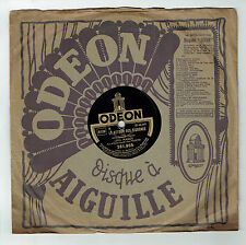 78T Lina MARGY Disque Phonographe RETOUR DES CIGOGNES Chanté ODEON 281855 RARE