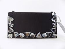 INC Aysun Black Clutch Gemstone Crossbody Handbag