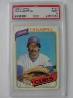 1980 Topps Chicago Cubs #153 TIM BLACKWELL PSA 9 Mint Baseball Card