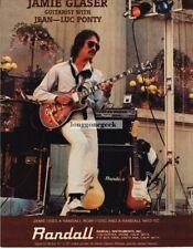 1982 RANDALL Amplifier JAMIE GLASER  Vtg Print Ad
