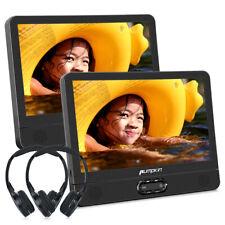 12 Zoll Auto Kopfstütze DVD Player Monitor 2 Bildschirm USB/SD/AV1080P+Kopfhörer