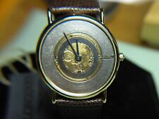 "MENS VERY RARE & VINTAGE LONGINES ""ST. MORITZ"" GOLD WATCH SKELETON EDITION MOD."