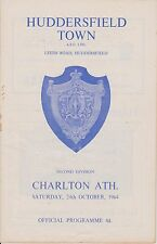 HUDDERSFIELD TOWN v CHARLTON ATHLETIC 64-65 LEAGUE MATCH