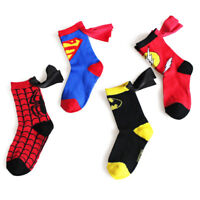 Boys Sport Socks Cotton Kids Socks Spider Man Batman Football Basketball Socks