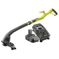 Ryobi ONE+ 18-Volt Lithium-Ion Electric Cordless String Trimmer and Edger