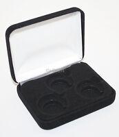 Black Felt COIN DISPLAY GIFT METAL PLUSH BOX holds 3-Quarters or Presidential $1