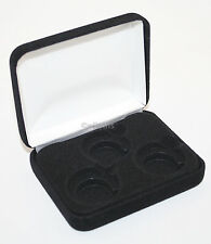 Black Felt COIN DISPLAY GIFT METAL PLUSH BOX holds 3-Quarters or Presidential $1