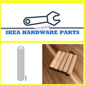 5 IKEA Wood Dowels for IKEA MALM High Bed Frame Version 101367