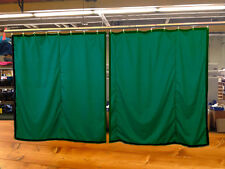 Lot of (2) Hunter Green Curtain/Stage Backdrop, Non-FR, 12 H x 11 W