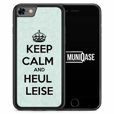 iPhone 7 Hülle SILIKON Case Keep Calm And Heul Leise Spruch Lustig Cool Witzig