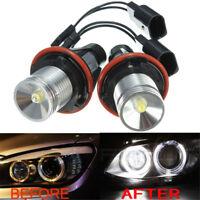 2x LED ANGEL EYES HALO LIGHT WHITE BULB For BMW E39 E87 E64 E65 E66 E83 X3 E53