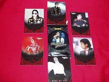 6 Michael Jackson Panini Cards & Wrap New ( 1C )
