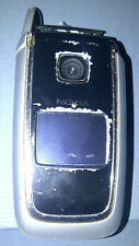 NOKIA 6101 SILVER [UNLOCKED] Foldable Mobile Phone **FOR REPAIR OR PARTS