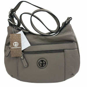 Giani Bernini Pebble Hobo Gray Faux Leather Purse