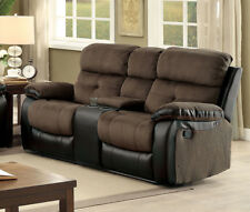 Furniture Of America Hadley I Two Tone Finish Reclining Loveseat With Console