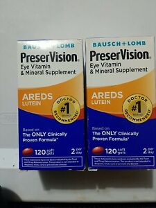 Bausch + Lomb PreserVision Areds Lutein Eye Vitamin 120 Softgels Each 240 7/20