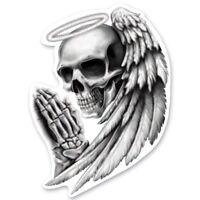 Aufkleber Totenkopf Engel Angel Skull Sticker 8x6 cm Helm Airbrush