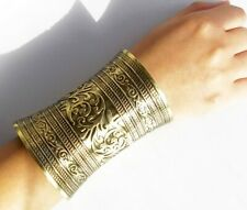 Large and Wide SLIVER CUFF AFRICAN INSPIRED BRACELET
