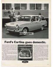 1966 Ford Cortina Station Wagon Automobile Car Vtg Print Ad