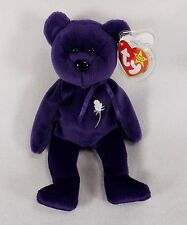 PRINCESS DIANA BEAR 4TH GENERATION-TY BEANIE BABY-ADULT OWNED-EX COND