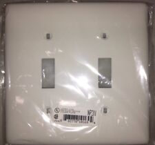 HUBBELL WIRING DEVICE-KELLEMS NP2W Wall Plate,Switch,2Gang,White